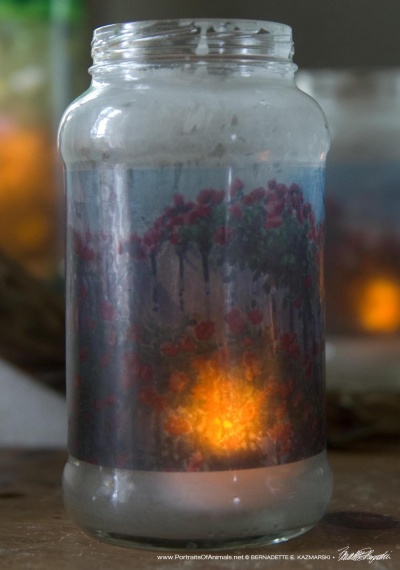 Red Climbers Votive