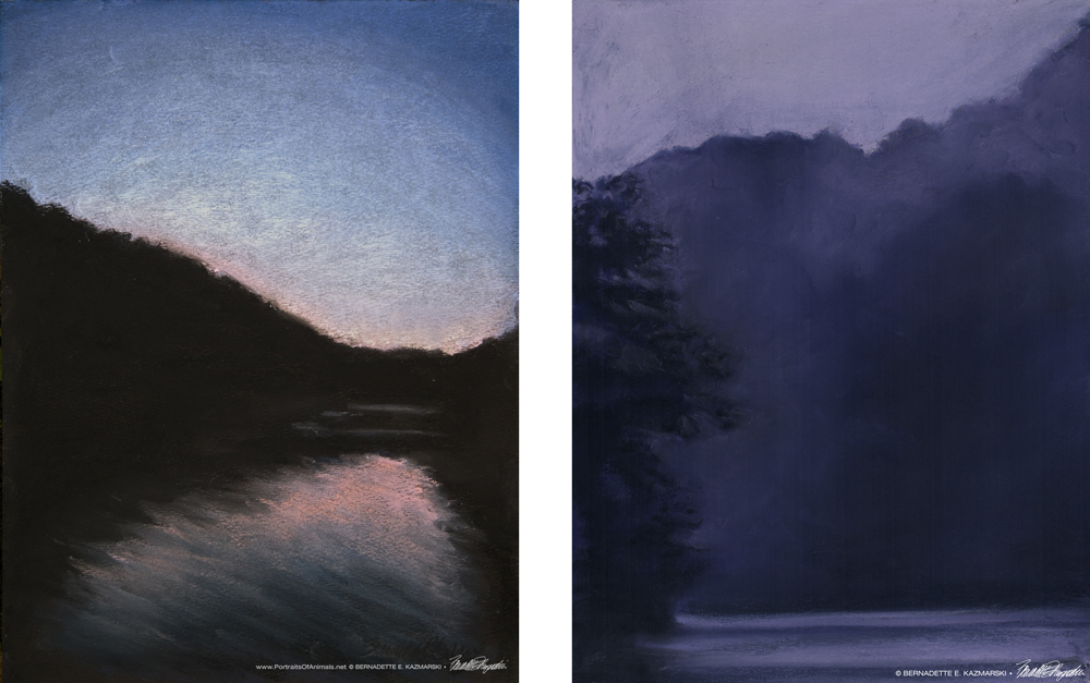 """Sunset Cruise"" and ""Dusk After the Storm"""
