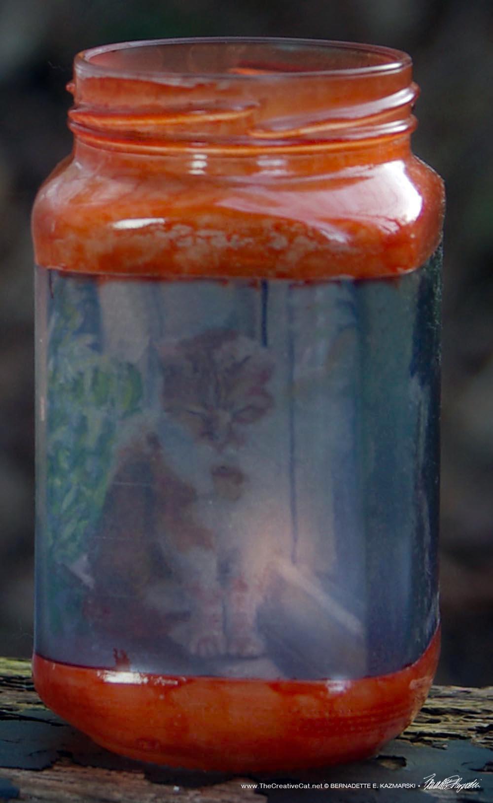 Impressionist Cats Feline Votive