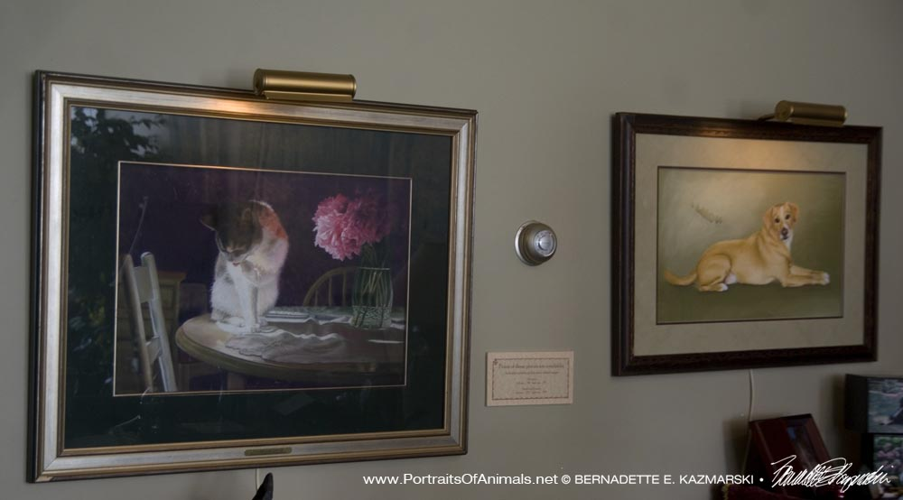 """Peaches and Peonies"" and ""Buckwheat"" at Chartiers Custom Pet Cremations"