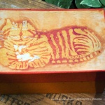 Ginger Cheshire Kitty Batik Keepsake