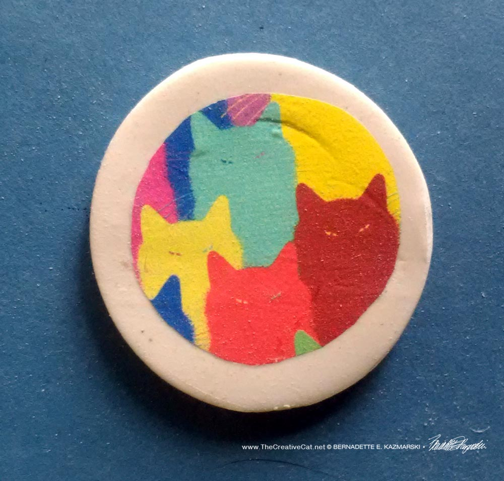 "Inscrutable Patterns 1"" Round Magnet"