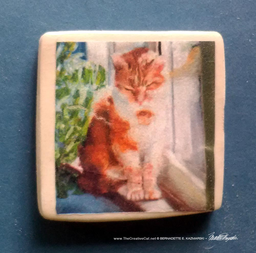 "Late Winter Sunbath 1"" Square Magnet"