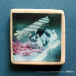 """A Rosy Glow 1"""" Square Magnet"""