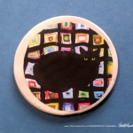 "Mewsette on the Afghan 2"" Round Magnet"