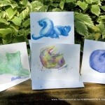 Watercolor Cats Note Cards Set