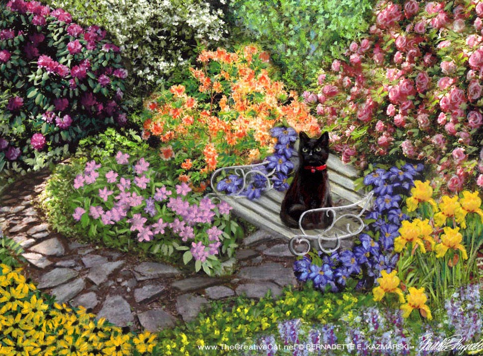 """Mimi in the Formal Garden"", pastel, 8 x 10 © Bernadette E. Kazmarski"