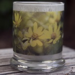 Dancing Woodland Sunflowers votive, small