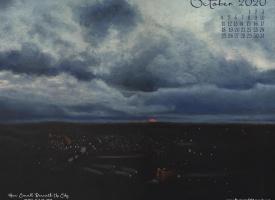 October Nature Desktop Calendar: How Small Beneath the Sky