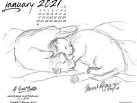 January Feline Desktop Calendar: A Sweet Cuddle