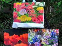 Summery Flowery Tote Bags