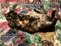 "February Feline Desktop Calendar: New Painting, ""Draw Me Like One of Your French Cats"""