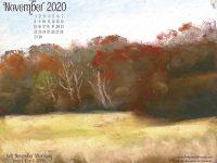 November Nature Desktop Calendar: Soft November Afternoon