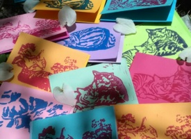 Take Time for Handwritten Notes on Handprinted Tabbies Note Cards