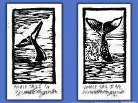 Cool! Whale Tail Block Prints