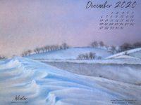December Nature Desktop Calendar: Winter